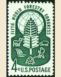 #1156 - 4¢ Forestry Congress