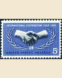 #1266 - 5¢ International Cooperation Year
