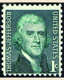 #1278 - 1¢ Thomas Jefferson