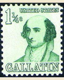 #1279 - 1 1/4¢ Albert Gallatin