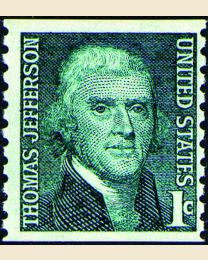 #1299 - 1¢ Thomas Jefferson