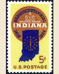 #1308 - 5¢ Indiana Statehood