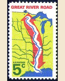 #1319 - 5¢ Great River Road