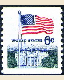 #1338A - 6¢ Flag & White House