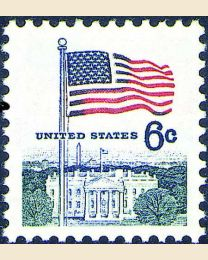 #1338D - 6¢ Flag & White House