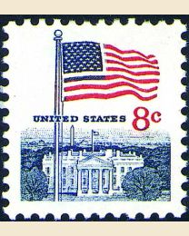 #1338F - 8¢ Flag & White House
