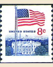 #1338G - 8¢ Flag & White House