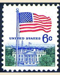 #1338 - 6¢ Flag & White House