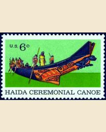 #1389 - 6¢ Ceremonial Canoe