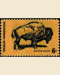 #1392 - 6¢ Wildlife-Buffalo