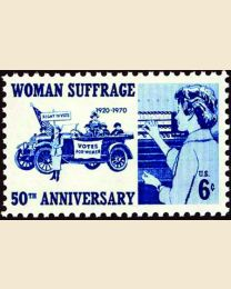 #1406 - 6¢ Woman Suffrage