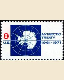 #1431 - 8¢ Antarctic Treaty
