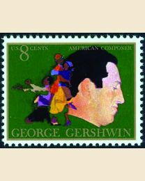 #1484 - 8¢ George Gershwin - Composer