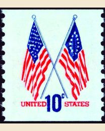 #1519 - 10¢ 50 & 13 Star Flags