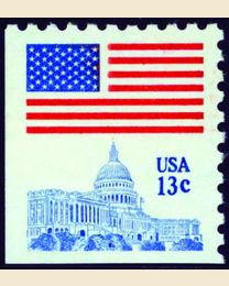 #1623B - 13¢ Flag over Capitol