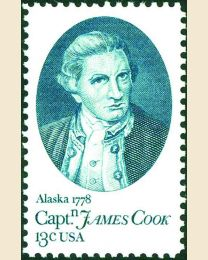 #1732 - 13¢ Captain Cook