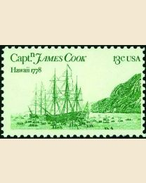 #1733 - 13¢ Cook's Ships
