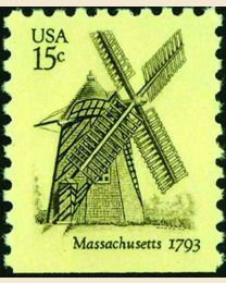 #1740 - 15¢ Windmill - Massachusetts