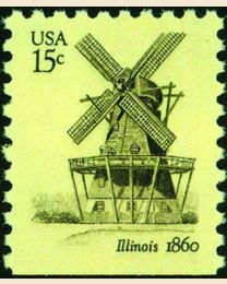 #1741 - 15¢ Windmill - Illinois