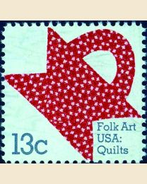 #1746 - 13¢ Red Pattern