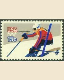 #1796 - 15¢ Downhill Skiing