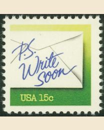 #1808 - 15¢ Write Soon green