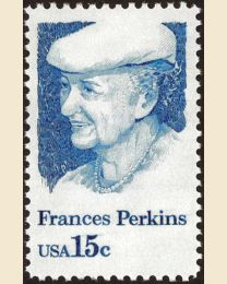 #1821 - 15¢ Frances Perkins