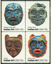 #1834S - 15¢ Indian Masks