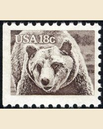 #1884 - 18¢ Brown Bear