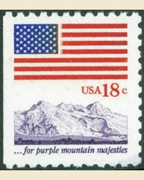 #1893 - 18¢ Flag over Mountains
