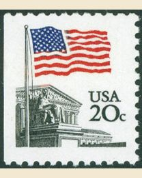 #1896 - 20¢ Flag over Court
