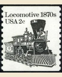 #1897A - 2¢ Locomotive