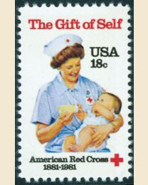#1910 - 18¢ American Red Cross