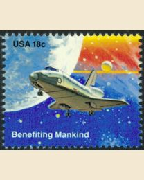#1918 - 18¢ Benefiting Mankind