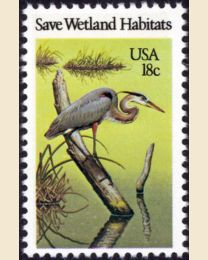 #1921 - 18¢ Great Blue Heron