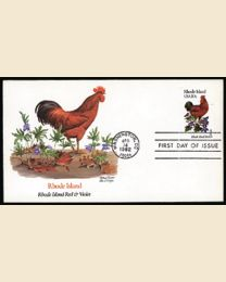 #1953 - Birds & Flowers: FDC