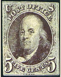 First U.S. Postage Stamp