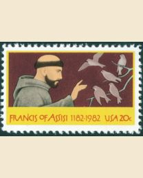 #2023 - 20¢ St. Francis of Assisi