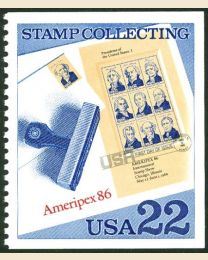 #2201 - 22¢ President sheet on FDC