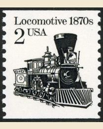 #2226 - 2¢ Locomotive redrawn