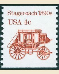 #2228 - 4¢ Stagecoach  redrawn