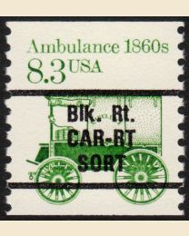 #2231 - 8.3¢ Ambulance Precancel