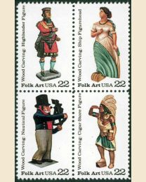 #2240S - 22¢ Woodcarved Figures