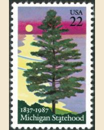 #2246 - 22¢ Michigan Statehood