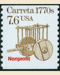 #2255 -  7.6¢ Carreta precancelled
