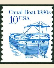 #2257 - 10¢ Canal Boat