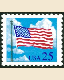 #2278 - 25¢ Flag & Clouds