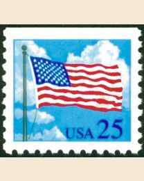 #2285A - 25¢ Flag & Clouds