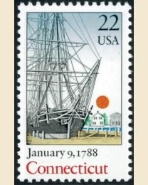 #2340 - 22¢ Connecticut (1988)
