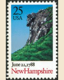 #2344 - 25¢ New Hampshire (1988)